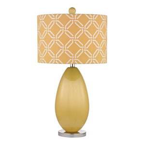 Sevenoakes Sunshine Yellow One Light Table Lamp