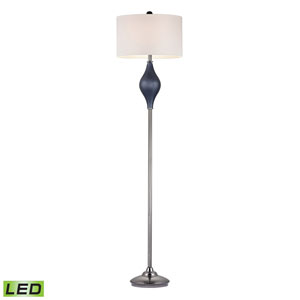 Chester Navy Blue and Black Nickel One Light LED Floor Lamp