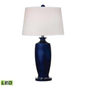 Halisham Navy Blue and Black Nickel One Light LED Table Lamp