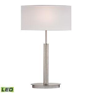 Port Elizabeth Satin Nickel One Light LED Table Lamp