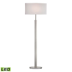Port Elizabeth Satin Nickel One Light LED Floor Lamp