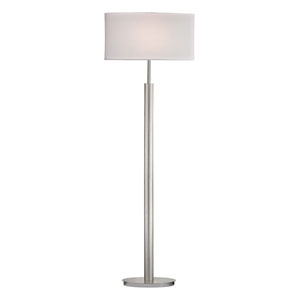 Port Elizabeth Satin Nickel One Light Floor Lamp