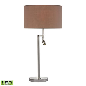 Beaufort Satin Nickel Two Light LED Table Lamp