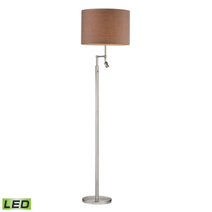 Beaufort Satin Nickel Two Light LED Floor Lamp