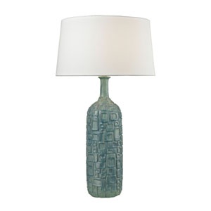 Cubist Blue One-Light Table Lamp
