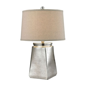 Tapered Square Silver Mercury Plating One-Light Table Lamp