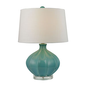 Seafoam Glaze Organic Seafoam Green One-Light Table Lamp