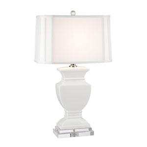 Gloss White One-Light Table Lamp