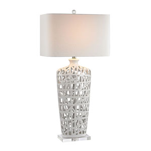 Dimond Gloss White Crystal LED Table Lamp