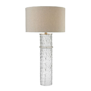 Two Tier Clear One-Light Table Lamp