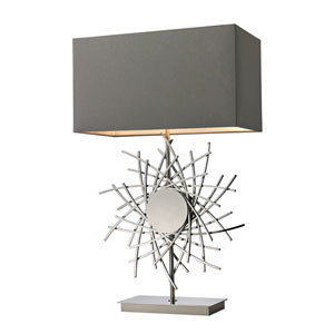 Cesano Polished Nickel LED Table Lamp