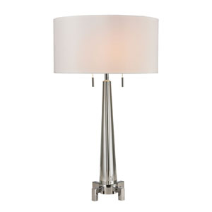Bedford Clear and Chrome Two-Light Table Lamp