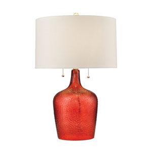 Hatteras Blood Orange Two-Light Table Lamp