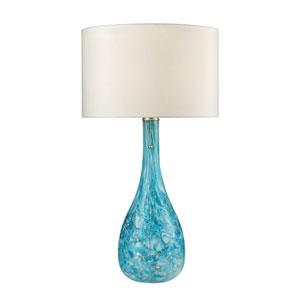 Mediterranean Seafoam Green One-Light Table Lamp