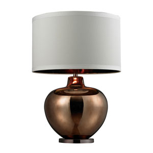 Bronze 30-Inch Oversized Glass Table Lamp