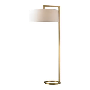Ring Antique Brass Two-Light Floor Lamp