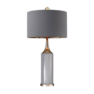 Cone Grey and Gold One-Light 16-Inch Table Lamp