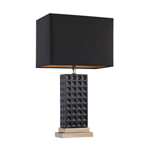 Stud Black and Gold One-Light Table Lamp