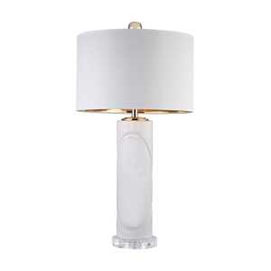 Gloss White Gold 28-Inch LED Table Lamp