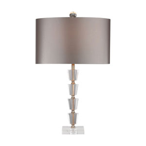 Stacked Clear and Gold One-Light Table Lamp