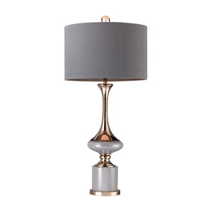 Grey Gold 35-Inch LED Table Lamp