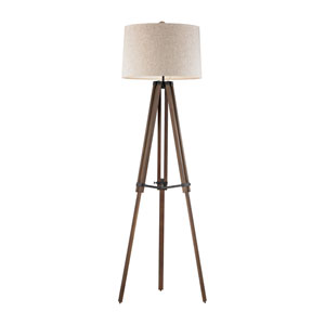 Walnut Oil Rubbed Bronze LED Floor Lamp
