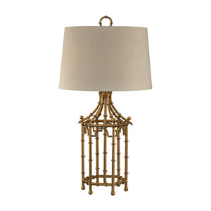 Bamboo Gold Leaf One-Light Table Lamp