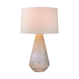 Two Tone Clear One-Light Table Lamp