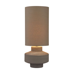 Geometric Grey Clay One-Light Table Lamp