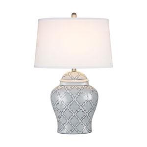Aragon Blue And White Glaze LED Table Lamp