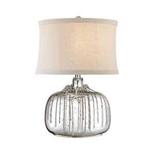 Nassau Antique Silver Mercury One-Light Table Lamp