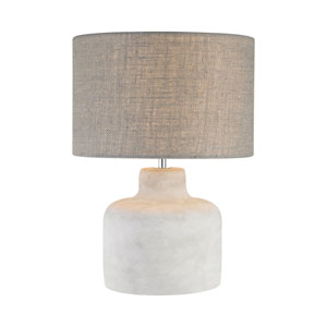 Rockport Polished Concrete One-Light 12-Inch Table Lamp