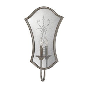 Gruyere Antique Silver One-Light Wall Sconce