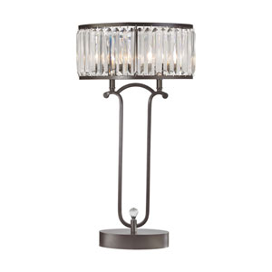 Rudolfo Bronze and Clear Two-Light Table Lamp