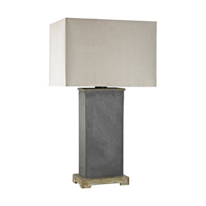 Elliot Bay Grey Slate One-Light 28-Inch Outdoor Table Lamp