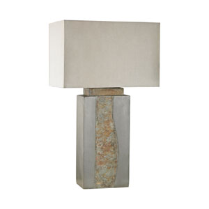 Musée  Grey and Natural Slate One-Light Outdoor Table Lamp