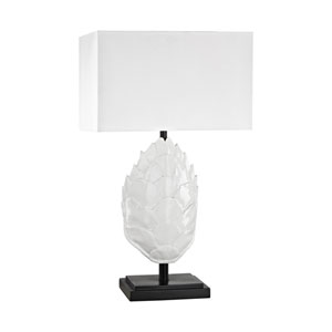Los Roques Grey and Natural Slate One-Light Outdoor Table Lamp