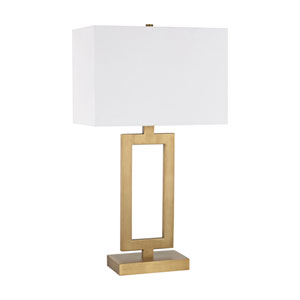 Dromos Antique Brass One-Light Table Lamp