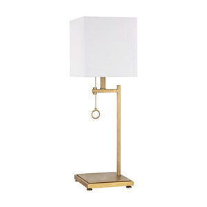 Gower Street Antique Brass One-Light Table Lamp