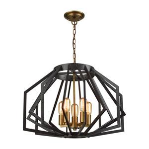 Fluxx Bronze Five-Light Chandelier
