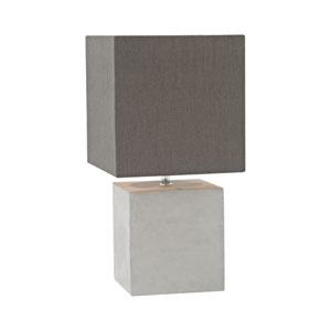 Brocke Polished Concrete One-Light Table Lamp