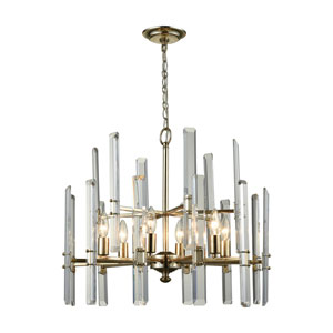 Arthur Antique Silver Leaf Six-Light Chandelier