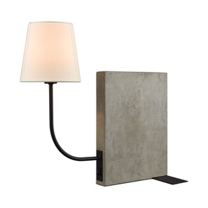 Sector Concrete and Oil Rubbed Bronze One-Light Desk Lamp