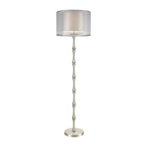 Palais Princier Satin Nickel     One-Light Floor Lamp