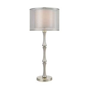 Palais Princier Satin Nickel One-Light Table Lamp