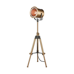 North Gower Aged Brass One-Light Tripod Floor Lamp