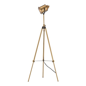 North Gower Aged Brass One-Light Floor Lamp