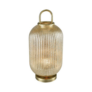 Hillhurst Antique Brass Mercury Glass One-Light Table Lamp