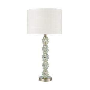 Helsinki Ocean Mint Satin Nickel One-Light Table Lamp