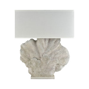 Menemsha  Aged White Coral One-Light Outdoor Table Lamp
